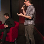 Alex doing Audience Questions, with John Patrick Green